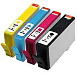 INKMATE 4 PK(BK/C/M/Y) Replacement Ink Cartridges For 564XL N684WN CN685WN CN686WN CN687WN Combo Pack Compatible with Photosmart 4610 5510 5520 6510 6520 Printers