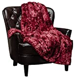 Chanasya Faux Fur Throw Blanket   Super Soft Fuzzy Light Weight Luxurious Cozy Warm Fluffy Plush Hypoallergenic Blanket for Bed Couch Chair Fall Winter Spring Living Room (50