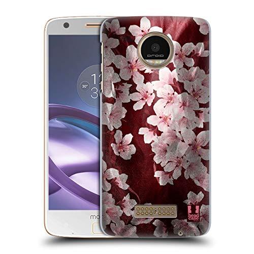 (Head Case Designs Cherry Blossom Satin Floral Prints Hard Back Case Compatible for Moto Z Force/Z Force Droid)