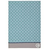 Coucke French Cotton Jacquard Towel Geometric Collection, Mosaique (Mosaic), 20-Inches by 30-Inches, Celadon