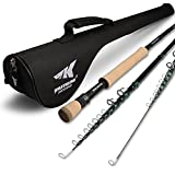 Cheap KastKing New Ascension Soloscopic Fly Rod and Combos, IM6 Graphite Blank, Fixed & Floating Guides, CNC Aluminum Reel with Line & Backing, Lightweight Travel & Storage Case