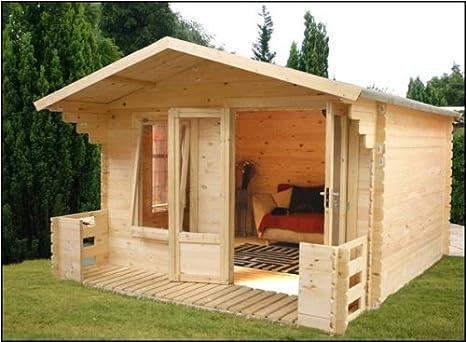 Buttercup Farm - Cabaña de madera, 3,7 x 3,3 m: Amazon.es: Jardín