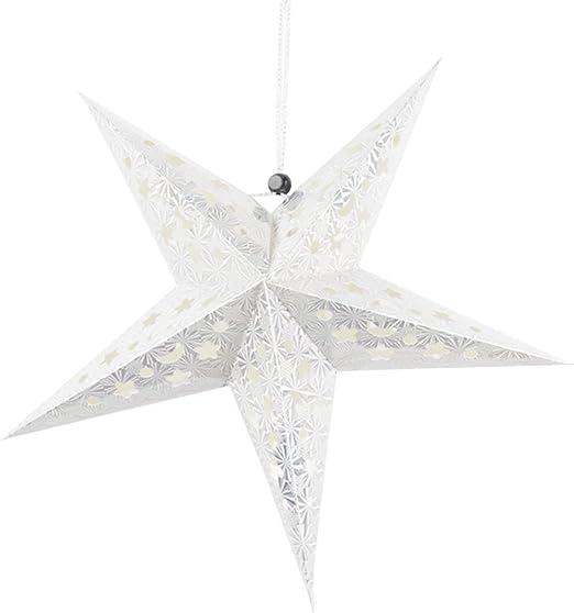 Gris de Noël Cuivre Argent Or 1x effet vieilli Suspension Iron Star métal Étoile