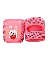 YUENA CARE Baby Knee Pads Anti-Slip Walking Kneepads Adjustable Foam Pad Cushion Watermelon Red