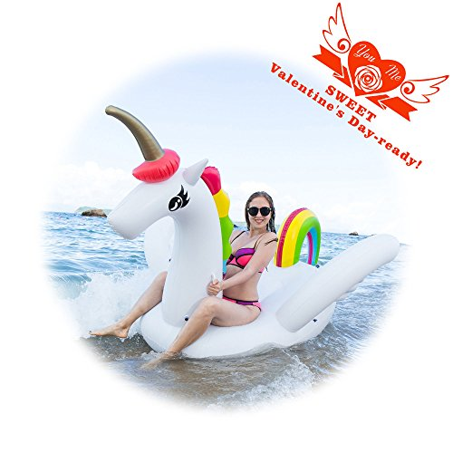 Unicorn Swimming Inflatable Inflates Deflates