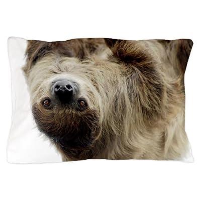 Cafepress Unique Design Sloth Pillow Case - Standard White - Cafepress