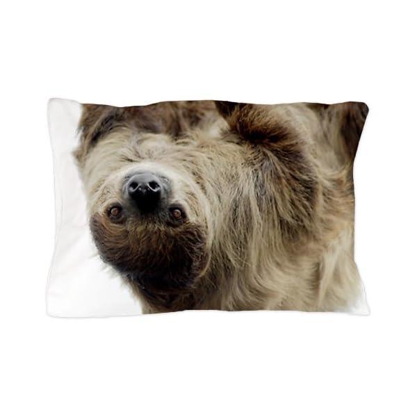 Cafepress Unique Design Sloth Pillow Case - Standard White -