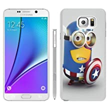 Hot Sale Samsung Galaxy Note 5 Case ,Unique And Durable Designed Case With Minion Captain America white Samsung Galaxy Note 5 Cover Phone Case