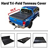 "VIOJI New 5' Short Bed Hard Tri-Fold Tonneau Cover Truck Bed For 2005-2018 Toyota Tacoma (60.3""-60.5"" Short Bed, Models W/O Bed Rail & Factory Utility Track System)"