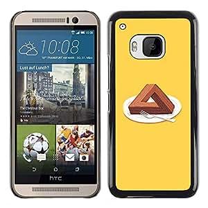 // PHONE CASE GIFT // Duro Estuche protector PC Cáscara Plástico Carcasa Funda Hard Protective Case for HTC One M9 / Triángulo Cake /