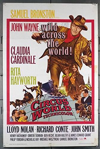 Circus World (1964) Original U.S. One-Sheet Movie Poster 27x41 Folded Average Used Condition JOHN WAYNE CLAUDIA CARDINALE RITA HAYWORTH