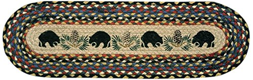 """Earth Rugs 49-ST043BB Stairtread 8.25 by 27"""" Black"""