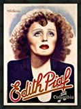 """Edith Piaf: Disques Columbia"" vintage era music poster, premier quality framed print 36""x24"" [approx.]"