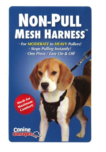 11102 Canine Concepts Medium Black Mesh Non-pull Dog Harness, My Pet Supplies