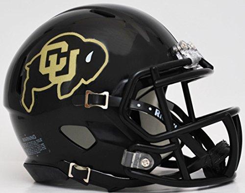 CAA Riddell Revolution SPEED Mini Football Helmet BLACK (Colorado Buffaloes Mini Helmet)