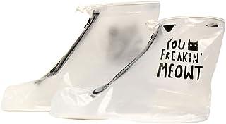 Forfar Beautyrain 2Pcs Housse de Chaussure extérieure imperméable Zipper antidérapant Protecteur réutilisable Rainy Day