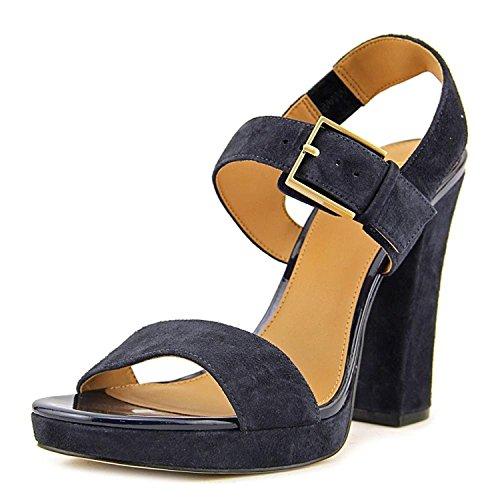 Calvin Klein Womens Bette Open Toe Casual Slingback, Navy Suede, Size 5.5