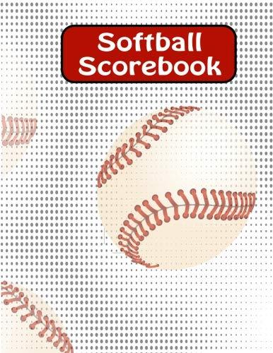 Softball Scorebook: Large Softball/ Baseball Scorebook: Side by Side Softball Scoring of 50 ()