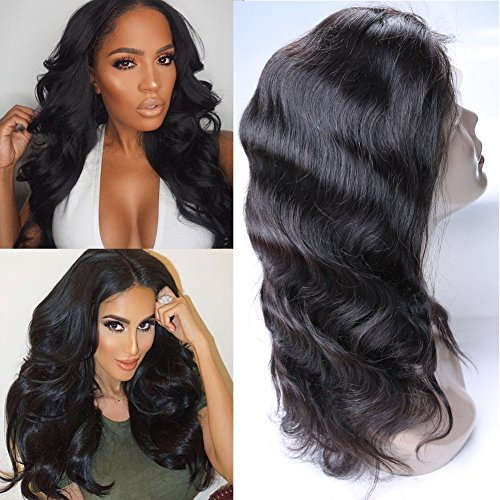 Daiweier Brazilian Body Wave Lace Front Wigs 18 Inches With Baby Hair Mink Unprocessed Human Hair 7a Grade 100 Real Hair Pieces Short Milky Way For Black - Front Mink