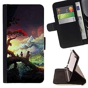 Momo Phone Case / Flip Funda de Cuero Case Cover - Sunset Forest Nubes - Sony Xperia M2