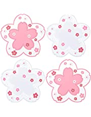 Sakura PVC Coaster Cherry Blossom Cup Coaster Anti-Skid Insulation Coaster for Beer, Coffee, Tableware Tea