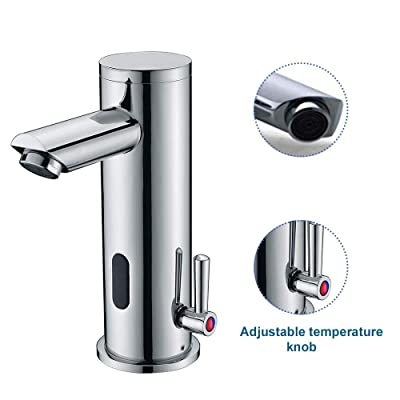 Touchless Vessel Sink Tap,Hot And Cold Automatic Faucet,S Sensor Bathroom Faucet Hands Free Electronic Sink Faucet