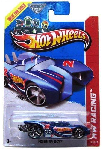 PROTOTYPE H-24 (TREASURE HUNT LOGO) * HW RACING / HW RACE TEAM * 2013 Hot Wheels Basic Car 1:64 Scale Series * Collector #101 of 250 *