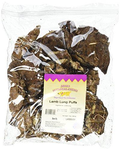 Jones Natural Chews Lamb Lung Puffs 16oz Pouch