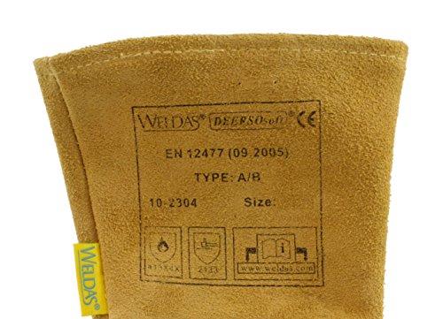 (12 PAIRS) Weldas DEERSOsoft Pearl Grain Deerskin, 4'' Cowhide Cuff - Welding MIG/TIG Gloves - Kevlar Sewn - Size L by Weldas (Image #2)