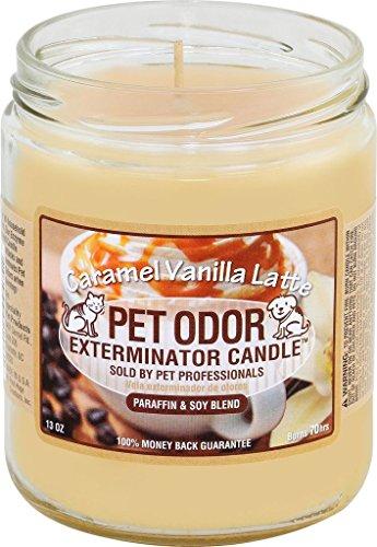 Caramel Vanilla Latte Pet Odor Exterminator 13 Ounce Jar (Caramel Candles)