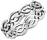Sterling Silver Wicca Weave Celtic Ring Size 5