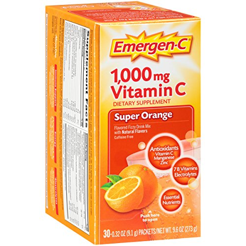 076314306466 - Emergen-C Dietary Supplement Drink Mix with 1000 mg Vitamin C, 0.32 Ounce Packets, Caffeine Free (Super Orange Flavor, 30 Count) carousel main 4