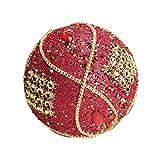 Christmas Ball Ornaments Decoration Christmas Rhinestone Glitter Baubles Balls Xmas Tree Ornament Decoration (8cm in Diameter) (Red)