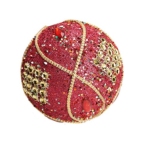 Christmas Ball Ornaments Decoration Christmas Rhinestone Glitter Baubles Balls Xmas Tree Ornament Decoration (8cm in Diameter) (Red) by TLT Retail (Image #4)