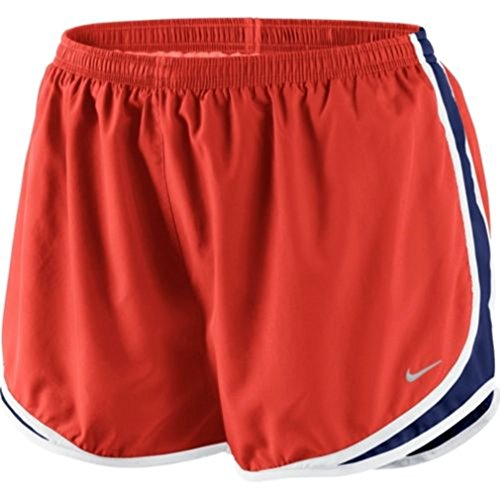 Nike Womens Plus DRI-FIT Dry Tempo Running Shorts 1X Crimson/Royal Blue