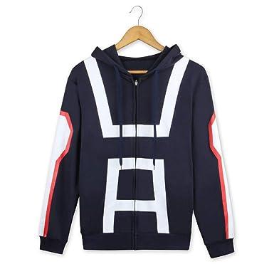 Cosstars My Hero Academia Anime Sudaderas con Capucha Chaqueta Cosplay Disfraz Zip Hoodie Jacket Outwear Abrigo: Amazon.es: Ropa y accesorios