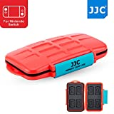 JJC 8+8 Slots Game Card Case Memory Card Protector for 8 X Game Card (Nintendo Switch : Pokken Tournament Dx / Sony Playstation PS VITA : Assassin's Creed III) + 8 X Micro SD/MSD Memory Card, Orange