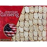 Hand-selected A Grade American Ginseng Slice Medium Size (4 Oz. Box)
