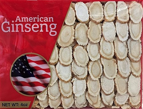 Hand-selected A Grade American Ginseng Slice Medium Size (4 Oz. Box)