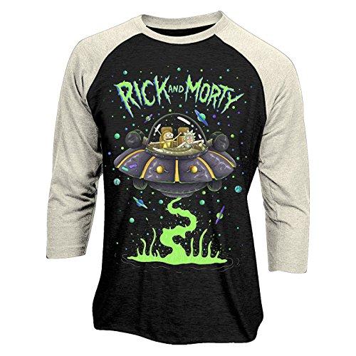 RICK & MORTY - SPACESHIP (BASEBALL SHIRT)