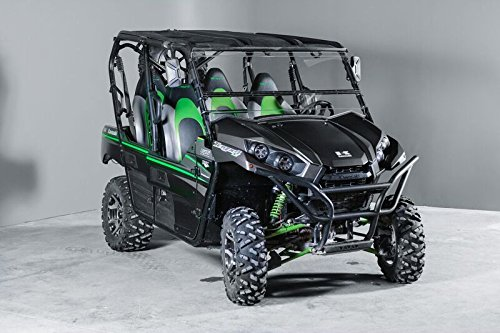 Kawasaki Teryx Full Tilting UTV Windshield- 4 seater and 2 seater 2016 and newer. Made in USA-Best of both world half when you want and full when you need. ()
