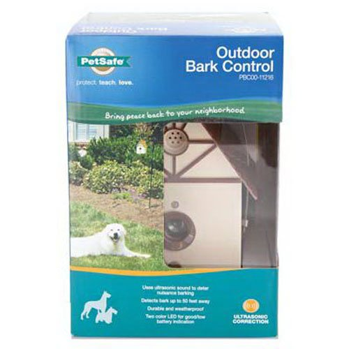 PetSafe Outdoor Ultrasonic Bark Deterrent, Up to 50 ft. Range, Outdoor Use Only, No Collar Needed