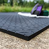 Equine Stall Mat, Bed Mat, Barn Flooring, Kennel Floors – Heavy Duty Rubber Mat 4' x 6' x 1/2'' (Qty of 12)