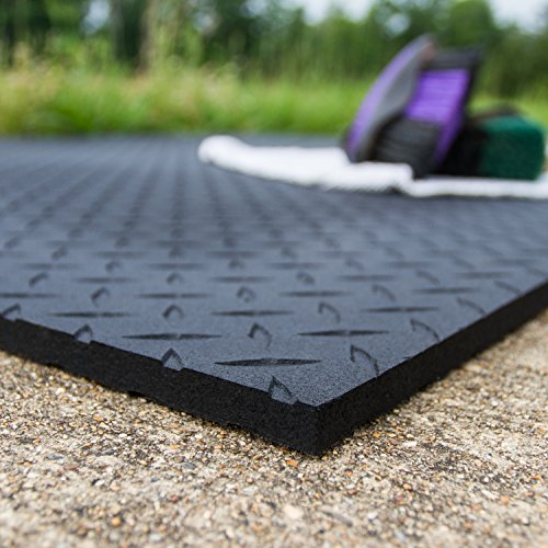 Equine Stall Mat, Bed Mat, Barn Flooring, Kennel Floors - Heavy Duty Rubber Mat 4' x 6' x 1/2""