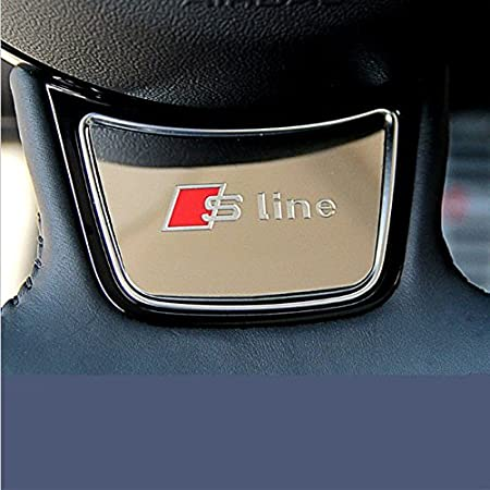 Firemans 58*38cm Sline S Logo Steering Wheel Badge Sticker S-Line Car Decal Emblem For A3 A4L A1 A5 A7 Q3 S