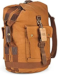 H-ANDYBAG Hand Luggage Canvas Duffle Bag Backpack Carry On Medium Weekend Travel Men 14 Inch Laptop