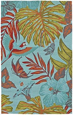 Kaleen Rugs Yunque Collection YUN02-17 Blue 8 x 10 Indoor Outdoor, Handmade Rug