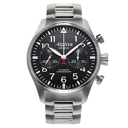 Alpina Startimer Pilot Automatic Watch, Chronograph, Bracelet, Limited Ed.