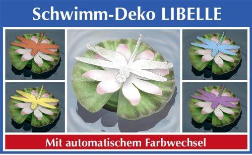 Wenko LED Libélula con cambio de color schwi mmdeko Natación Decoración Jardín Decorar Estanque Jardín Estanque: Amazon.es: Jardín