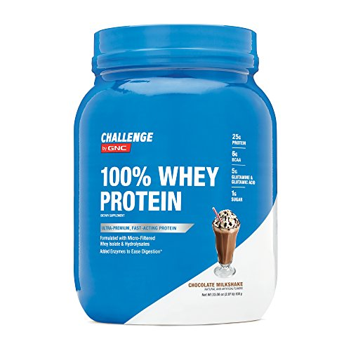 Challenge by GNC 100% Whey Protein, Chocolate Milkshake, 2.07 Pound by CHALLENGE by GNC